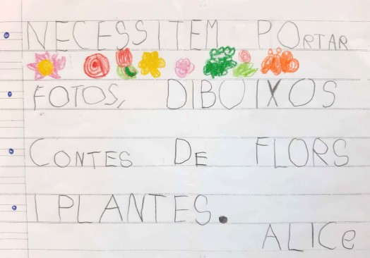 Children's Handwriting in Catalan
