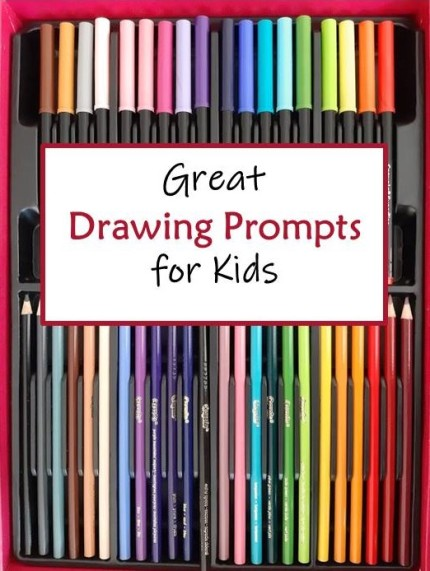 Drawing Prompts for Kids, Kids Art Activities