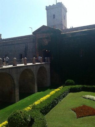 Montjuic Castle in Summer