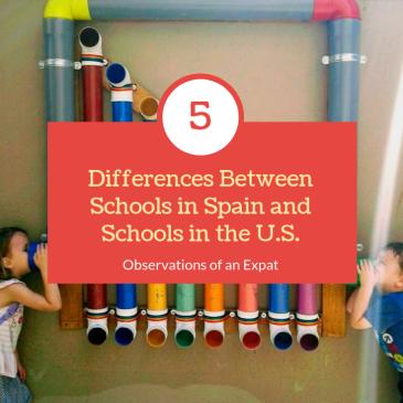 Differences Between Schools in Spain versus US