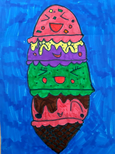 Kids Ice Cream Drawing