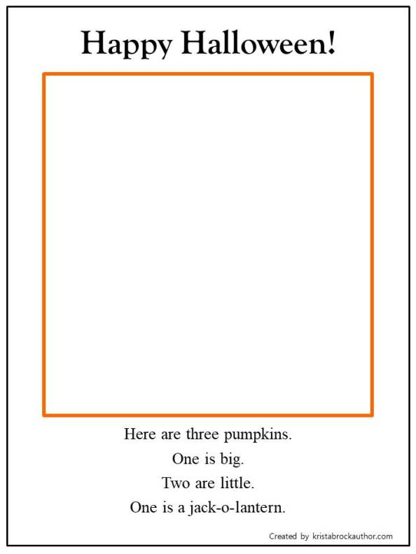 Halloween Read and Draw Worksheets