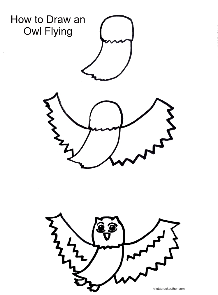 How to Draw and Owl Flying