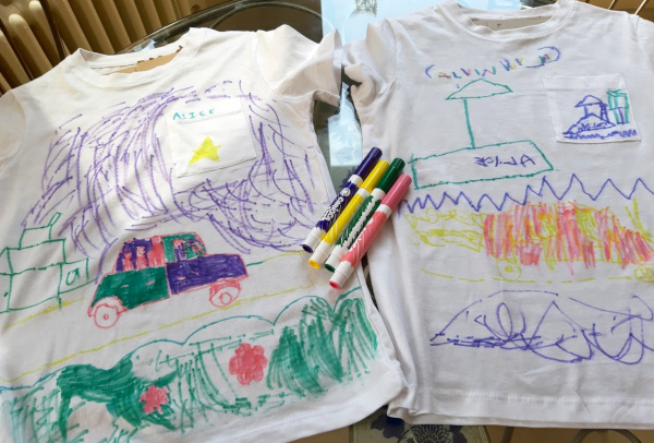 Kids t-shirt drawings