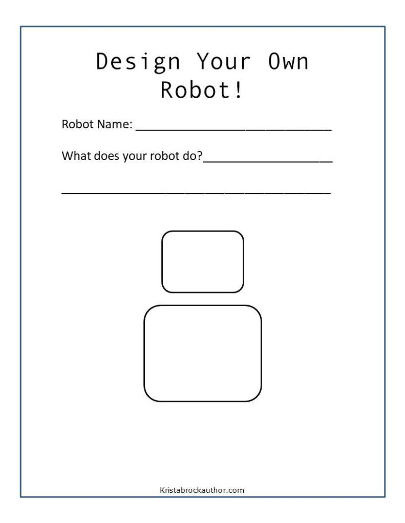 Robot Drawing Prompt for Kids