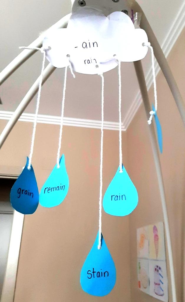 Word Family Rain Cloud