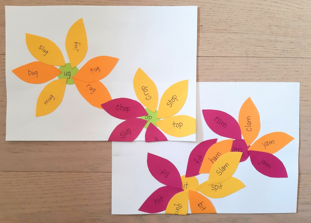 Word Family Flower Activity